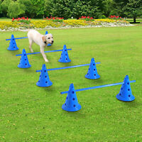 Set of 4 Dog Agility Set Puppy Training Equipment Indoor Combo Jump Crossbar Kit