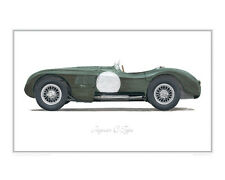 Jaguar C-Type - Limited Edition Classic Car Print Poster by Steve Dunn