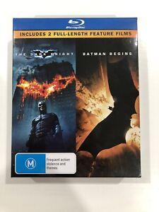 The Dark Knight Batman Begins limited edition box set and The Dark Knight Rises