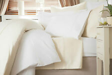 600 Thread Count 100% Cotton Sateen King Size Fitted Sheet in White 38cm depth
