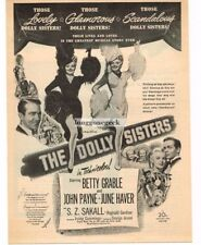 """1945 """"The Dolly Sisters"""" Betty Grable June Haver Vtg Movie Print Ad"""