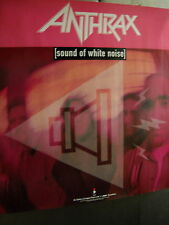 Anthrax Large Rare record company Promo Poster from Sound Of White Noise Mint