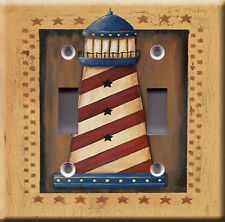Double Light Switch Plate Cover - Lighthouse