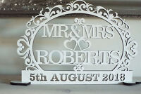 Personalised MR&MRS Sign Wedding Top Table Decoration date, gift, MR AND MRS