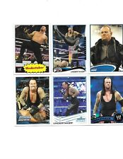 TOPPS WWE 6 UNDERTAKER WRESTLING CARDS A NICE MIX