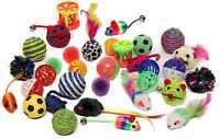 Sweet Pete Cat Toys Variety Pack 20 Assorted Pieces with Cat Wand Feather Chaser