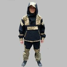 Army Suit GORKA-4 Camo Black + Digital Pixel Anorak forces Military uniform