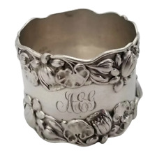 """Pond Lily by Gorham Sterling Silver Napkin Ring 40 grams 1 1/2"""" x 1 3/4"""""""