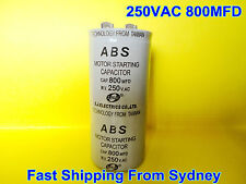 ABS 250VAC 800MFD (800uF) Air Conditioner Appliance Motor Starting Capacitor NEW