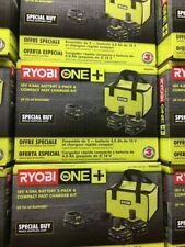 Ryobi Psk003 18 V 4.0 Ah Battery (2-Pack P197) And Charger with Bag Starter Kit