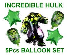 INCREDIBLE HULK 5pce FOIL BALLOON BIRTHDAY DECORATION SET  UK SELLER - FAST POST