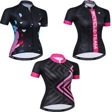 2019 Cycling Jersey Women Summer Bike Short Sleeve Bicycle Clothing Tops XS-3XL