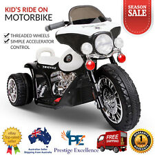 Kids Ride on Motorbike Police Patrol Style Bike Children Motorised Electric Toys