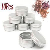 10pcs Cosmetic Aluminum Tin Storage 10ml Jar Pot Cream Lip Balm Box Containers