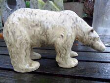 wunderschöner  Eisbär  Majolika Keramik Ton art deco