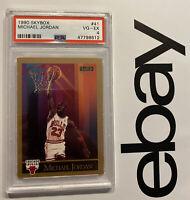 Michael Jordan PSA 4 Skybox Chicago Bulls INVEST Man Cave Collector Card 1990