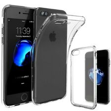 Case For IPhone Silicone Hybrid Skin Clear Transparent TPU Gel Cover 6 7 8 + X
