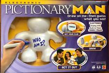 Electronic PICTIONARY MAN Charades Game Complete 2008 Mattel Batteries Included!