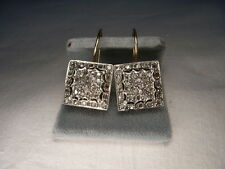Magnificent Antique Estate 14K Pink Gold Rose Cut Diamond Earrings