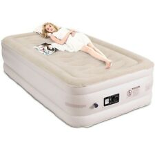 Twin Size Luxury Raised Air Mattress Quilt Top Inflatable Airbed Built-in Pump