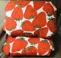 Strawberry Accent Pillows Home Fruit Decor Couch Livings Room Lounge Accessories