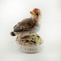 Vintage Lefton China Hand Painted Porcelain Snow Bird Figurine KW1637