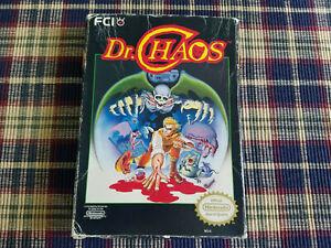 Dr. Chaos - Nintendo - NES - Authentic - Original Box Only! REV-A - White Seal