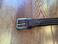 Nautica Mens Accessories Nautica Leather Web Woven Braided Stretch Belt Size 40