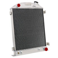 3-Row Cooling Radiator For 1930-1931 Ford Model A Grill Shells Chevy V8 Engine