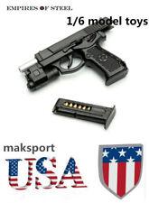 US  1/6 weapon QSZ92 Semi-automatic Pistol Rifle  black Model Plastic Gun Toys