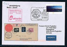 73263) airberlin  SF Berlin - Zürich Schweiz 12.9.2013, SoU