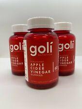 3 Pack Goli Nutrition Apple Cider Vinegar Gummies (180 Gummies)