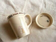 Gardeners A Bug Free Brew  Ceramic Tea Mug Cup with Lid / Coaster
