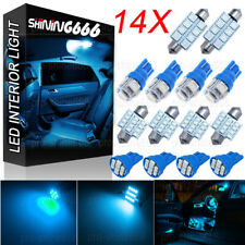 14X Ice Blue LED Light Interior Package Kit for T10 31mm Map Dome License Plate
