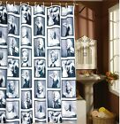 Rideau De Douche Baignoire 12 Anneaux Crochet Imperméable Salle Bain 180*180cm