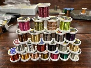 Hends Colored Wire Fly Tying Material - 23 Spools