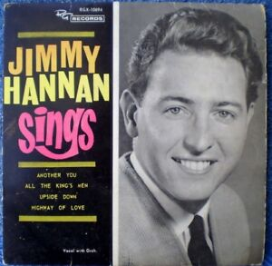 "JIMMY HANNAN SINGS-HIGHWAY OF LOVE ""RARE OZ"" EP 45 RPM"