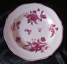 Gien : Assiette faience décor en camaïeu pourpre de bouquets fleuris XIXe siècle