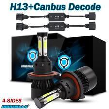4 Sides H13 9008 LED Headlight+ Resistor Canbus Decorder for 2006-2012 Dodge Ram
