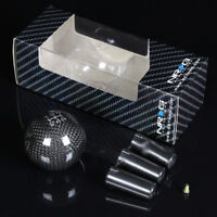 NRG ALUMINUM BALL STYLE WEIGHTED 5-SPEED GEAR SHIFTER SHIFT KNOB CARBON FIBER