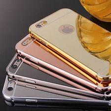 Funda Carcasa Gold Plated Aluminum Metal Espejo Cover Case Para iPhone 6 6S Plus