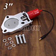 """3"""" Electric Exhaust Catback Downpipe Cutout E-CUT Out Valve Motor Kit Stainless"""