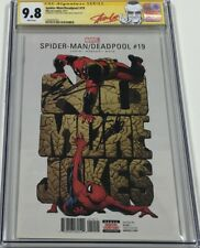 Spider-man / Deadpool #19 Signed by Stan Lee & Rob Liefeld CGC 9.8 SS Red Label