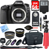Canon EOS 80D 24.2 MP CMOS Digital SLR Camera (Body) - Memory & Flash Kit