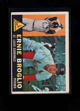 1960 TOPPS #16 ERNIE BROGLIO AUTHENTIC ON CARD AUTOGRAPH SIGNATURE AX1969