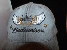 Budweiser Anheuser Bush Official Product One Size Studded Trucker Hat Denim New