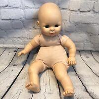 "Vtg 1984 Horsman Sing A Long Baby Doll Not Working Plush Toy Sleepy Eyes 22"""