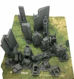 BattleTech/CityTech - Mapscale Buildings - Individual Buildings