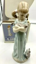 Lladro Figurine Don't Forget Me' Girl with Cats 5743 in Box