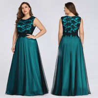 Ever-Pretty US Plus Size Lady Lace Long Formal Evening Gown Prom Cocktail Dress